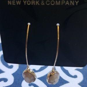 NWT NY&CO Cream/Tan Earrings